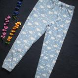 Теплые флисовые пижамные брюки принт облака Diney.