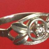 Кольцо Перстень Серебро 925 Проба 2,53 Гр 17,5 Р Playmoment