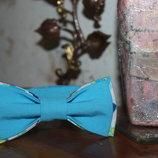 Галстук-Бабочка голубая