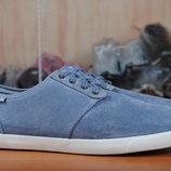 Голубые замшевые кроссовки, кеды Clarks. 44.5 размер. Оригинал