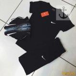 Летний комплект мужской NIKE футболка шорты