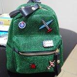 Модный мини рюкзак сумка с нашивками