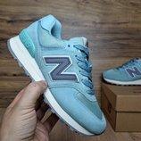 Кроссовки женские New Balance 574 turquoise