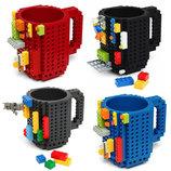 Набор комплект Кружка в стиле Лего чашка LEGO Подставка стакан