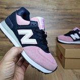 Кроссовки женские New Balance 574 Blue/pink