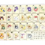 Деревянная развивающая игрушка рамка-вкладыш Руди Руді французский алфавит