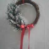 Рождественский веночек ручной работы 125 грн