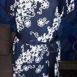 Нарядное платье с вязаными кружевными узорами, р. 56