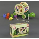 Деревянная игрушка Каталка-Черепаха С 23177