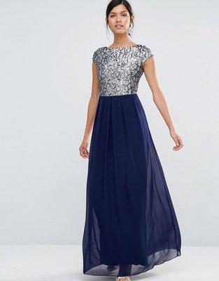 Little Mistress Шикарное вечернее платье с пайетками серебро, синее.  Previous Next 0dc6e947cd9