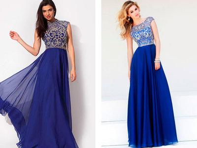 Little Mistress Шикарное вечернее платье с пайетками серебро, синее
