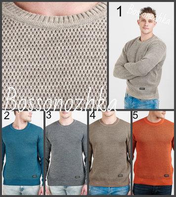 46-52 Теплый свитер двойной вязки, мужской джемпер, мужской свитер