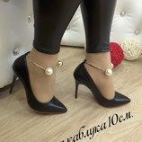 Туфли-Лодочки Шарики , эко-кожа