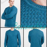 цвета Теплый джемпер вязаный узор переплетением мужской свитер