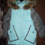 Куртка Anernuo анернуо 130- 170 полупальто куртка для девочки