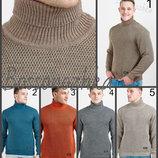 Классный теплый свитер, интересная двойная вязка, мужской теплый свитер под горло, светри чоловічі