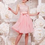 Коктейльное платье Glem Настасья персик