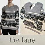 Оригинальный свитер со скандинавским орнаментом , декорированным кисточками L 48-50 р