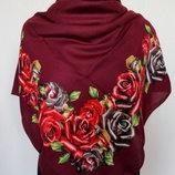 Турецкие кашемировые платки средний размер 90х90 см цвета