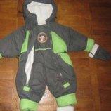 зимний комбеннизон на меху на овчине на 0 3 мес 0-6мес костюм на новорожденого