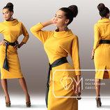 Элегантное женское платье средней длины до больших размеров Альберта в расцветках.