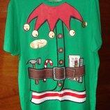 веселая футболочка с новогодней тематикой