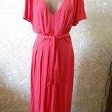 Супер Платье Бренд Коралового Цвета Р.60