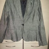 Новый фирменный пиджак H&M ,лен ,большой размер.
