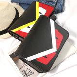 Стильная сумка почтальон со злыми глазками, птица В Наличии