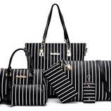 Большой набор женских сумок в полоску, 6в1 В Наличии