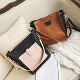 Стильный двухцветный набор сумка и клатч JingPin В Наличии