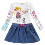 Платье с девочкой и собачкой TM Nova