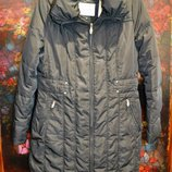 Зимнее пальто на пуху C&A наш 48р Длинный пуховик