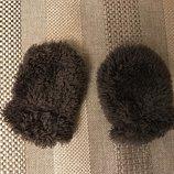 0-6 мес Варежки пушистики тёплые 2-слойные