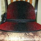 Шляпа Женская Красная с Чёрным
