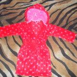 Теплый банный халат для девочки 2-3лет