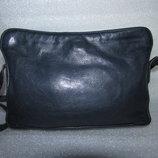 Объёмная сумка crossbody 100% натуральная кожа ~ marks&spencer~