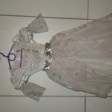 Карнавальное белое платье TU на 3-4 года рост 98-104 см