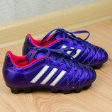 Футбольные бутсы на мальчика Adidas Juniors 11 Questra TRX FG Оригинал 30р. 18,5 см.