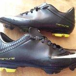 Бутсы копочки фирменные Nike Mercurial р.38-23.5см.Распродажа