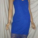 Платье вечернее миди river island синее размер 12