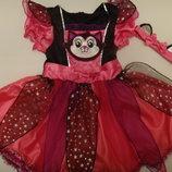 Платье Котик с повязкой на 2-3 года 98 см. можно больше б.у. Марк и Спенсер.
