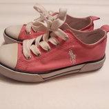 Крутые розовые кеды от Ralph Lauren, размер 28