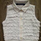 Белая блузка Original Marines 6 лет. Школьная блузка.