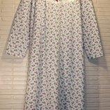 Ночная рубашка,ночная сорочка, ночнушка на байке с длинным рукавом разные размеры