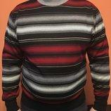 Мужской свитер бордо в полоску San Fa Турция