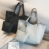 Набор женских сумок Mood 3 в 1 - большая сумка, мини-сумка, сумка-вкладыш AL7556