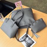 Набор женских сумок 3 в 1 сумка мини сумочка косметичка JingPin AL7587