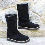 Зимние замшевые ботинки сапоги, угги