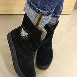 Женские зимние сапоги,ботинки,угги в стиле GUCCI